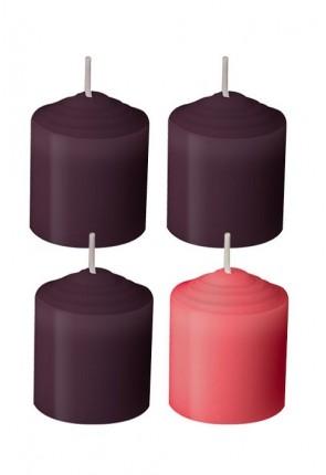 Dadant Candle 10-Hour, Advent Votive Candle Set