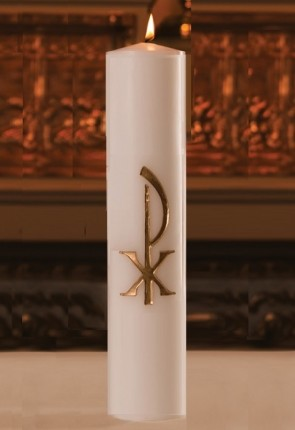 "Dadant Candle 3""D Chi Rho Christ Candle"