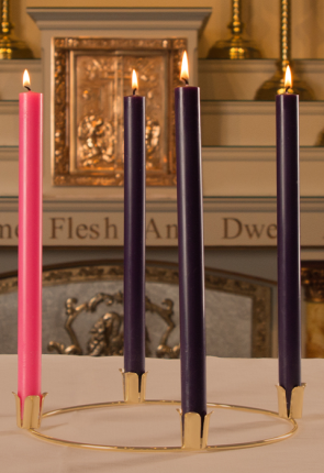 "Dadant Candle 7/8""D Paraffin-Based Advent Candle Set"