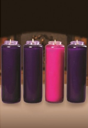 Dadant Candle 7-Day, Paraffin-Based Advent Candle Set