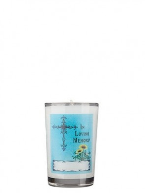 Dadant Candle All Souls' Day 24-Hour Glass Prayer Candle - Case Of 12 Candles