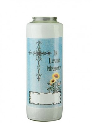 Dadant Candle All Souls' Day 6-Day Glass Prayer Candle - Case Of 12 Candles
