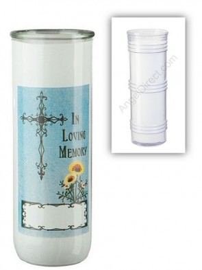 Dadant Candle All Souls' Day Permanent Glass Globe - Case Of 12 Globes