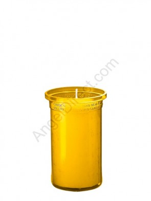 Dadant Candle Amber, 3-Day, Plastic Inner Light - Case Of 24 Candles