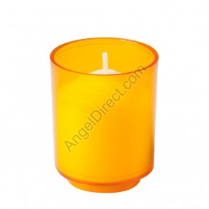 Dadant Candle Amber, Plastic, 10-Hour Disposable Votive Candle - Case Of 200 Candles