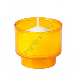 Dadant Candle Amber, Plastic, 4-Hour Disposable Votive Candle - 2GR Case