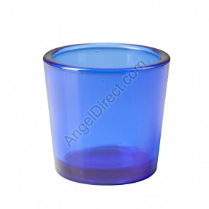 Dadant Candle Blue, Glass, 10-Hour Votive Candle Holder - Box Of 12 Holders