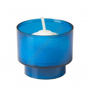 Dadant Candle Blue, Plastic, 4-Hour Disposable Votive Candle - 2GR Case