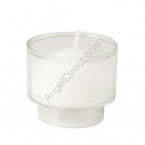 Dadant Candle Clear, Plastic, 4-Hour Disposable Votive Candle - 2GR Case