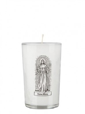 Dadant Candle Divine Mercy 24-Hour Glass Prayer Candle - Case of 12 Candles