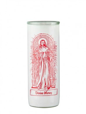 Dadant Candle Divine Mercy Glass Globe - Case of 12 Globes