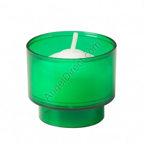Dadant Candle Green, Plastic, 4-Hour Disposable Votive Candle - 2GR Case