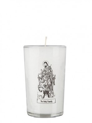 Dadant Candle Holy Family 24-Hour Glass Prayer Candle - Case of 12 Candles