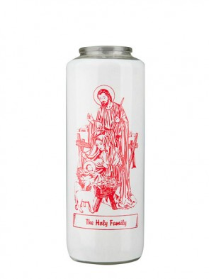 Dadant Candle Holy Family 6-Day, Glass Devotional Candle - Case Of 12 Candles