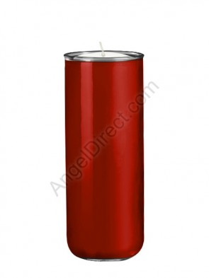 Dadant Candle No. 3 Ruby, 6-Day, Open-Mouth Glass Devotional Candle - Case Of 12 Candles