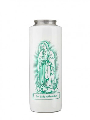 Dadant Candle Our Lady Of Guadalupe 6-Day, Glass Devotional Candle - Case Of 12 Candles