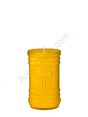 Dadant Candle P-Series Amber, 4-Day, Plastic Devotional Candle - Case Of 24 Candles