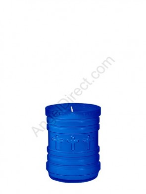 Dadant Candle P-Series Blue, 3-Day, Plastic Devotional Candle - Case Of 24 Candles