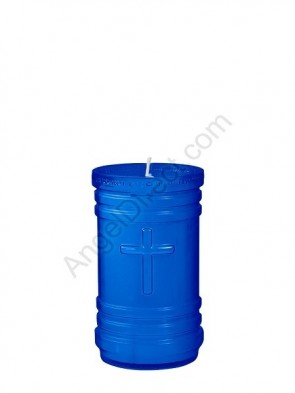 Dadant Candle P-Series Blue, 4-Day, Plastic Devotional Candle - Case Of 24 Candles