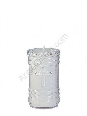 Dadant Candle P-Series Clear, 4-Day, Plastic Devotional Candle - Case Of 24 Candles