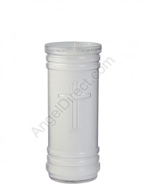 Dadant Candle P-Series Clear, 5-1/2 Day, Plastic Devotional Candle - Case Of 24 Candles