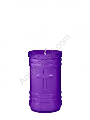 Dadant Candle P-Series Purple, 4-Day, Plastic Devotional Candle - Case Of 24 Candles