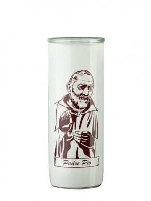 Dadant Candle Padre Pio Glass Globe - Case of 12 Globes