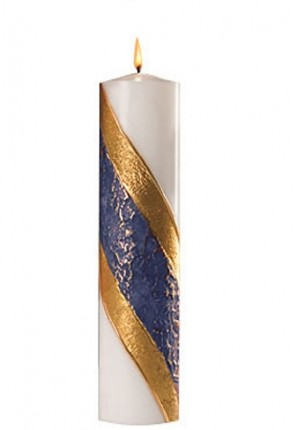 Dadant Candle Paraffin-Based, Blue Advent Pillar Candle