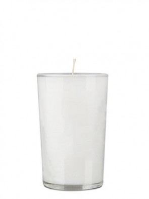 Dadant Candle Paraffin-Based Clear, 24-Hour Glass Prayer Candle - Case Of 72 Candles