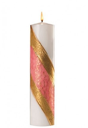 Dadant Candle Paraffin-Based, Pink Advent Pillar Candle