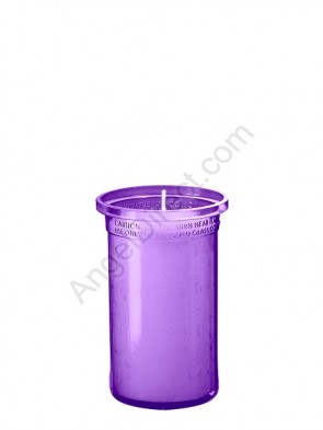 Dadant Candle Purple, 3-Day, Plastic Inner Light - Case Of 24 Candles