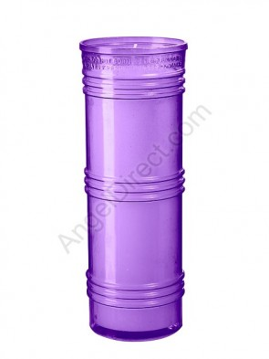Dadant Candle Purple, 6-Day, Plastic Inner Light - Case Of 24 Candles