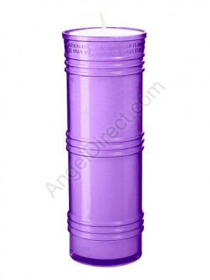 Dadant Candle Purple, 7-Day, Plastic Inner Light - Case Of 24 Candles