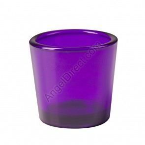 Dadant Candle Purple, Glass, 10-Hour Votive Candle Holder - Box Of 12 Holders
