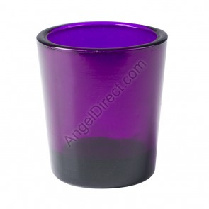 Dadant Candle Purple, Glass, 15-Hour Votive Candle Holder - Box Of 12 Holders