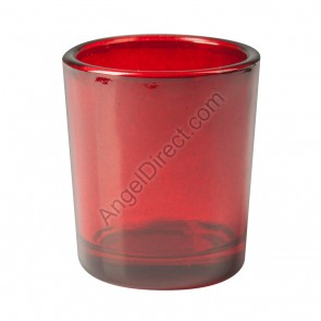 Dadant Candle Red, Glass, 15-Hour Votive Candle Holder - Box Of 12 Holders