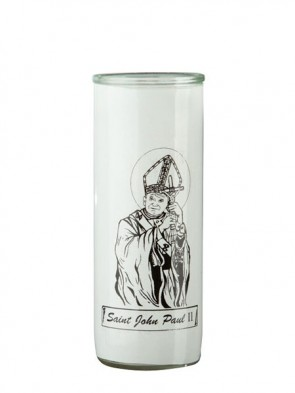Dadant Candle Saint John Paul II Glass Globe - Case of 12 Globes