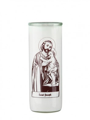 Dadant Candle Saint Joseph and Child Glass Globe - Case of 12 Globes