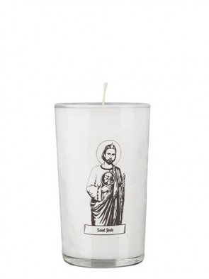 Dadant Candle Saint Jude 24-Hour Glass Prayer Candle - Case of 12 Candles