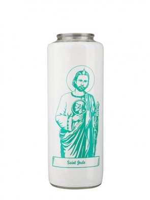 Dadant Candle Saint Jude 6-Day, Glass Devotional Candle - Case of 12 Candles