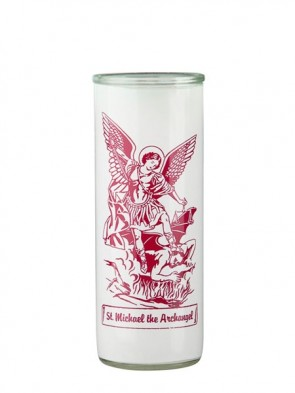 Dadant Candle Saint Michael the Archangel Glass Globe - Case of 12 Globes