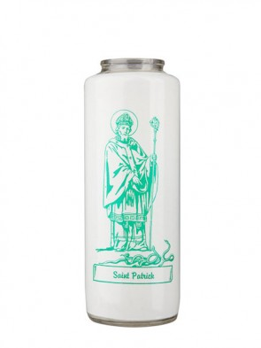 Dadant Candle Saint Patrick 6-Day, Glass Devotional Candle - Case of 12 Candles