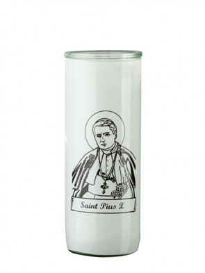 Dadant Candle Saint Pius X Glass Globe - Case of 12 Globes