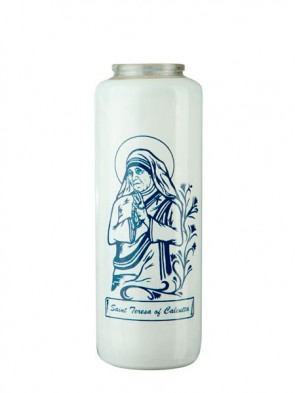 Dadant Candle Saint Teresa Of Calcutta 6-Day, Glass Devotional Candle - Case Of 12 Candles