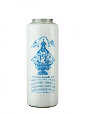Dadant Candle Virgin de San Juan de Los Lagos 6-Day, Glass Devotional Candle - Case Of 12 Candles