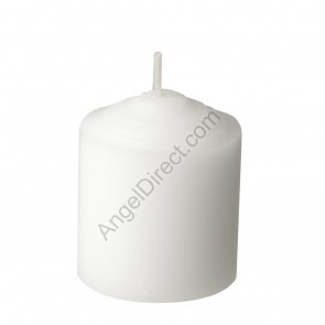Dadant Candle White, Molded Wax, 10-Hour Straight-Side Votive Candle - 2GR Case