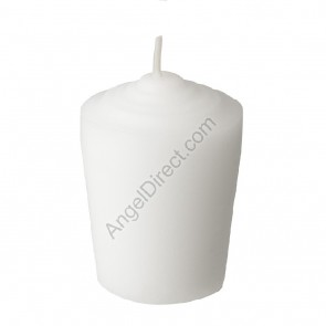 Dadant Candle White, Molded Wax, 15-Hour Tapered Votive Candle - 1GR Case