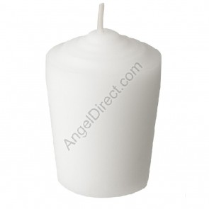 Dadant Candle White, Molded Wax, 24-Hour Tapered Votive Candle - 1GR Case