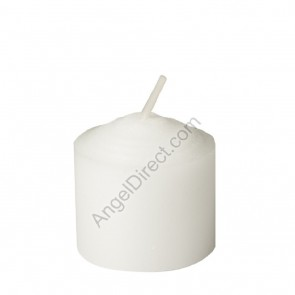 Dadant Candle White, Molded Wax, 8-Hour Straight-Side Votive Candle - 2GR Case