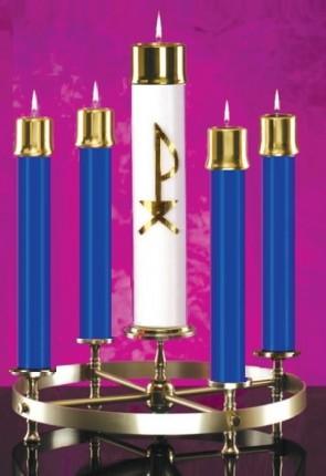Lux Mundi Blue Candle Shell Set